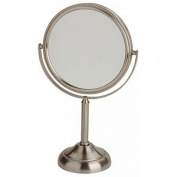 Jerdon Style JP910NB 15cm . 10X-1X Table Top Mirror Nickel Height 28cm .
