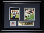Midway Memorabilia Wes Welker New England Patriots 2 Card Frame
