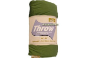 My Cosy Quarters I-1-TMF-01-GRN Down Alternative Fill Throw Blanket - Green