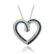 Lion Jewellers PBR13380M3 Blue & amp; White Diamond Accent Reversible Necklace