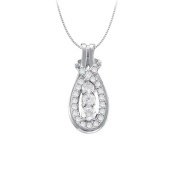 Fine Jewellery Vault UBNPD32164AGCZ050 Knot Pendant in Sterling Silver with April Birthstone Cubic Zirconia 0.50 CT TGW