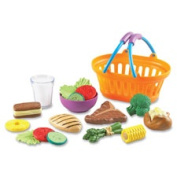 Learning Resources LRNLER9732 New Sprouts Play Dinner Basket 19 Per Set