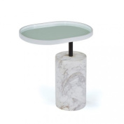 Go Home 20530 White Scarlett Side Table
