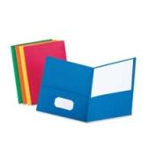 Esselte Pendaflex Corporation ESS57501 Twin Pocket Portfolio- w-o Fasteners- 28cm .x 8-.130cm .- LBE