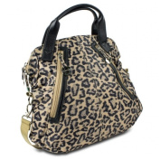 Travelon 305241 Leopard Tote with Front Pockets