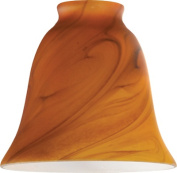 Westinghouse 8136300 6.4cm x 3.3cm . Burnt Umber Swirl Bell Shaped Glass Shade Pack of 4