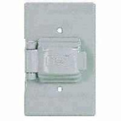 Cooper Wiring S1961 1-Gang Non-Metalic Single Receptacle Cover