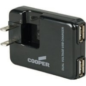 Cooper Wiring 4882775 Plug-In Dual Usb Charger.