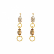 Cyllene Fantaisie Earrings 925/1000 Rhodium-Plated with. Elements-White and ambrées
