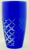 Lead Crystal Vase in Blue Überfang