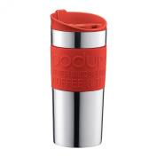 Bodum 0.35L Stainless Steel & Red Travel Mug