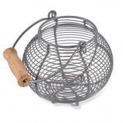 Garden Trading Garlic Basket Store - Charcoal
