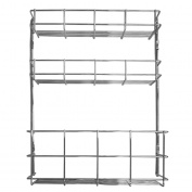 Andrew James 3 Tier Spice Rack and Bottle Holder - Kitchen Cupboard Door Storage and Wall Mountable - 2 Year Warranty