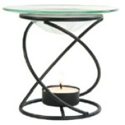 Frontier Natural Products 199826 Spiral Candle Lamp - Black