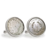 UPM Global LLC 12781 1883 First-Year-of-Issue Liberty Nickel Sterling Silver Cuff Links