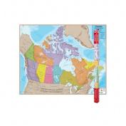 Round World Products RWPHM06 Hemispheres Laminated Map Canada