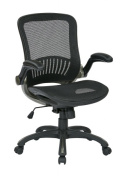 OSP Office Black Chair with Titanium Finish
