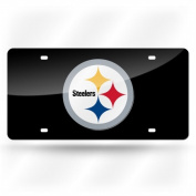 Rico Industries RIC-LZC2302 Pittsburgh Steelers NFL Laser Cut Licence Plate Cover Coloured