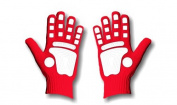 Fan Hands 671033 Clap-Enhancing Gloves Red - Large-Extra Large