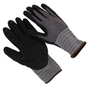 Seattle Glove NMFD608-9 Nitrile Foam Palm and Fingertips Glove Nylon Shell Large - Pack of 12