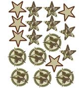 Wallies 12482 Camo Stars Big Wall Sticker