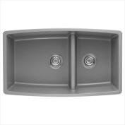 Blanco 441309 Performa 4.4cm . Medium Bowl Sink - Metallic Grey