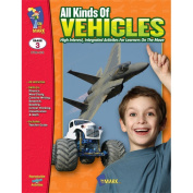 On The Mark Press OTM819 All Kinds of Vehicles Gr. 3