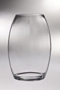 Majestic Gifts T-790-8 Classic clear 22cm . High Quality Glass Thick Oval Vase