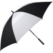 FJWestcott 8302T Wind-Vented Telescoping Auto Open 160cm . Golf Umbrella - Black and White