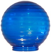 Polymer Products 3212-52630 Sphere 15cm . Etched Blue Acrylic Festival Replacement Globe Pack Of 6