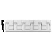 Ekena Millwork CHA05X01CH 14cm . H x 3.2cm . P x 240cm . L Chesterfield Dentil Block Chair Rail