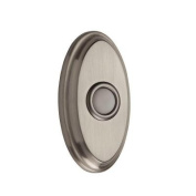 Baldwin 9BR7016-002 Wired Oval Bell Button - Satin Nickel