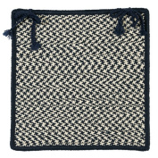 Outdoor Houndstooth Tweed - Navy Chair Pad