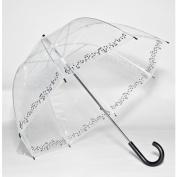 Elite Rain Frankford RB01-SY Clear Printed Bubble Umbrella Symphony