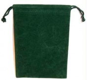 AzureGreen RV46GR 10cm . x 14cm . Bag Velveteen - Green
