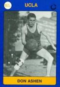 Autograph Warehouse 102520 Don Ashen Basketball Card Ucla 1991 Collegiate Collection No. 115