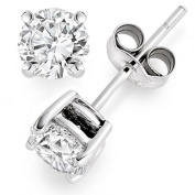 Silver Round solitaire stud earrings - 925 silver - size 4mm