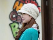 Women Girl Korean Winter Warm Crochet Knit Ski Beanie Wool Peaked Fashion Hat Cap