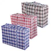 AcerDeals Strong Reusable Large Jumbo Shopping Laundry Storage Luggage Bag Zip (X-Large