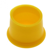 HuaYang Red wine /Beer Sealer Cover,Silicone Flexible Reusable Seal Wine Cover Bottle Cap Stopper Kitchen Bar Tool- Yellow