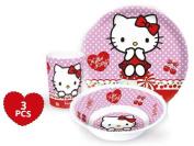 Hello Kitty Tableware Set 3 Pieces