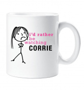 Ladies I'd Rather Be Watching Corrie Mug Cup Gift Present Mum Friend Coronation Street