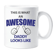 This Is What An Awesome Daddy Looks Like Mug Gift Cup Ceramic Present Birthday Christmas Fathers Day