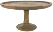 Natural Wooden Single Tier Cake or Fruit Stand