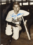 Real Deal Memorabilia THolmes8x10 Tommy Holmes Autographed Brooklyn Dodgers 8x10 Photo - Deceased 2008