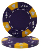 Brybelly Holdings CPAK-PURPLE-25 Roll of 25 - Purple - Ace King Suited 14 Gramme Poker Chips
