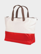 Peerless LAT001-Natural-Red Vineyard Tote Bag - Clearance Natural And Red