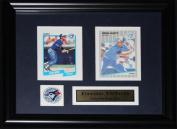 Midway Memorabilia Ernie Whitt Toronto Blue Jays 2 Card Frame