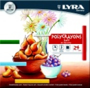 Lyra Non-Toxic Soft Poly-Crayon Assorted Colour Pack 24