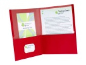 Oxford 2 Pockets Earthwise Recycled Pocket Folder - Red Pack 25